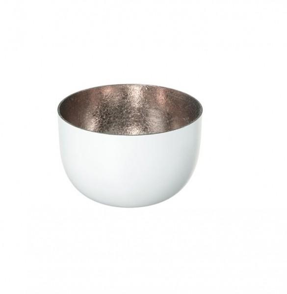Gift Company Windlicht Mandraas Weiß/Rosé H5cm / D8cm
