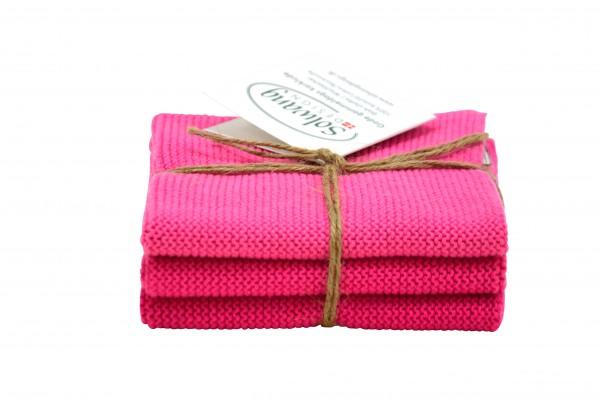Solwang Wischtücher 3er Set - Pink Kombi