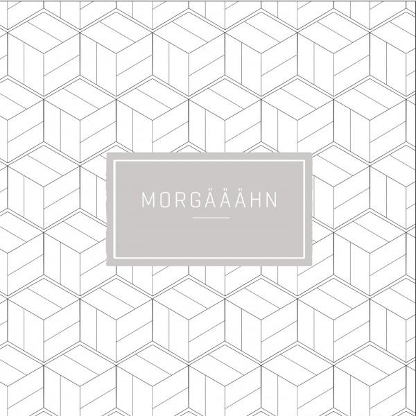 """Räder P.e.T. Cocktailserviette """"Morgääähn"""" 25x25 cm Weiß/Grau"""