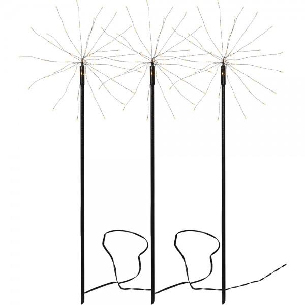 Best Season 3-er LED Outdoor Standstern Firework warmweiß 65 cm
