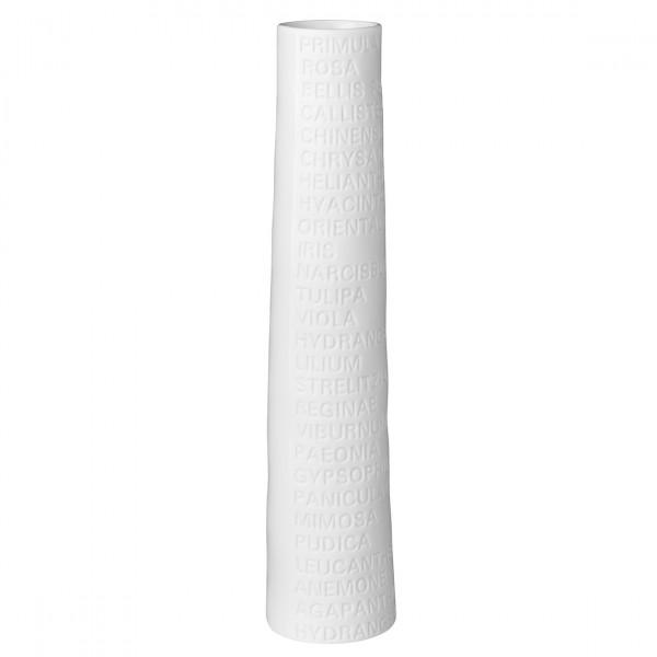 """Räder Schmale Vase, Groß """"Text"""""""