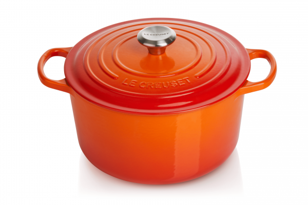 Le Creuset Hoher Bräter Rund Ofenrot 24 cm
