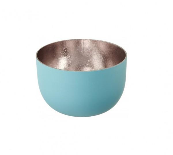 Gift Company Windlicht Mandraas Blau/Rosé H5cm / D8cm