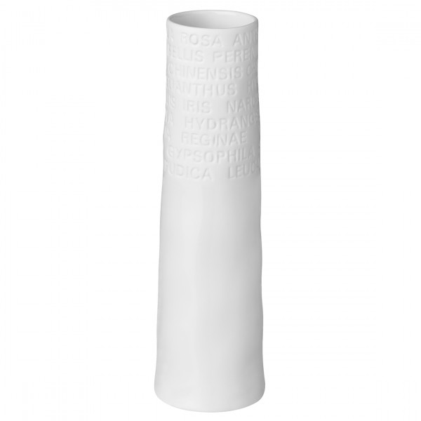 """Räder Schmale Vase, """"klein, TEXT"""""""