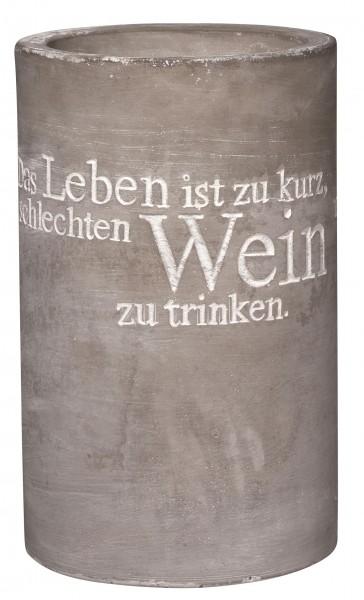 """Räder Weinkühler - """"Das Leben ist zu kurz.."""""""