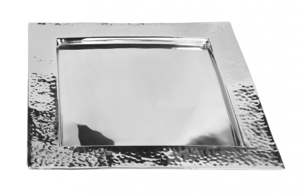 Fink Tablett Piatto quadratisch gehämmert