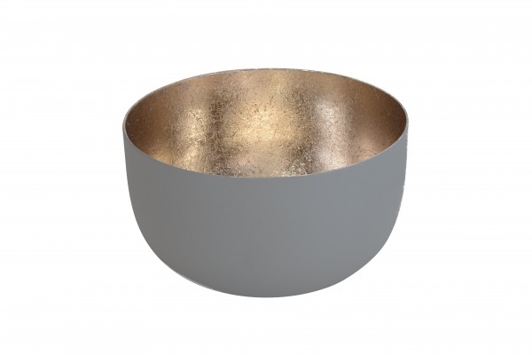 Gift Company Windlicht Mandraas Grau/Gold H5cm / D8cm
