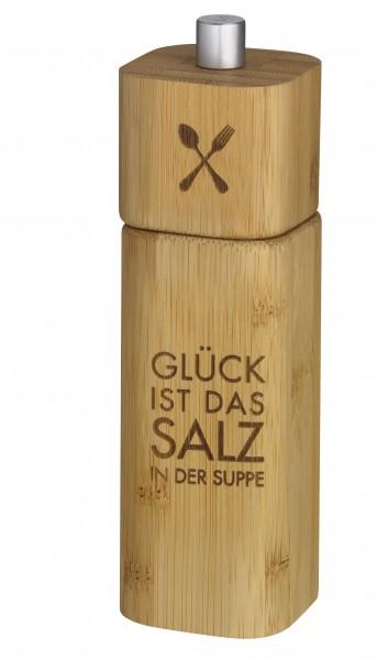 """Räder Salzmühle - """"Glück ist das Salz in der Suppe"""""""