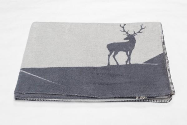 "Fussenegger Savona Decke ""Hirschberge"" 150 x 200 cm grau"