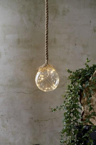 Best Season Glasball mit Licht gross