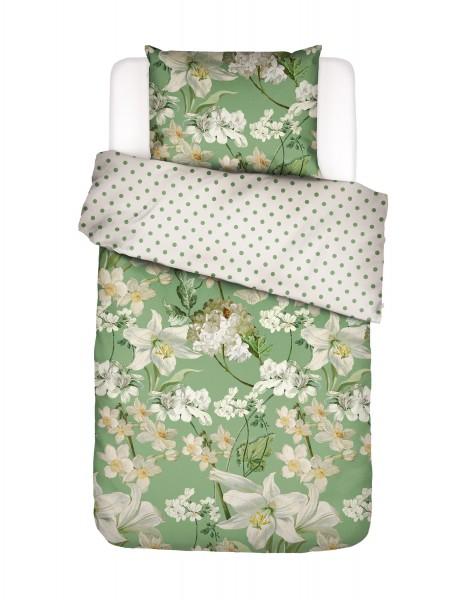 Essenza Bettwäsche Grün mit Blumen
