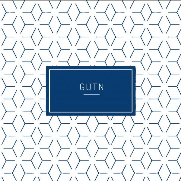 """Räder P.e.T. Cocktailserviette """"Gutn"""" 25x25 cm Weiß/Blau"""