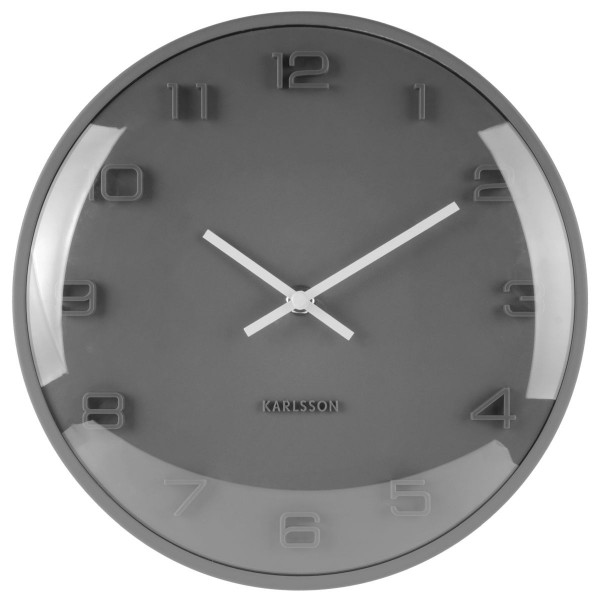 Karlsson Wanduhr Elevated Grau