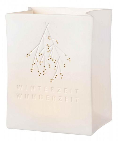 Räder Weihnachtszauber Porzellan Lichttüte Winterzeit Wunderzeit
