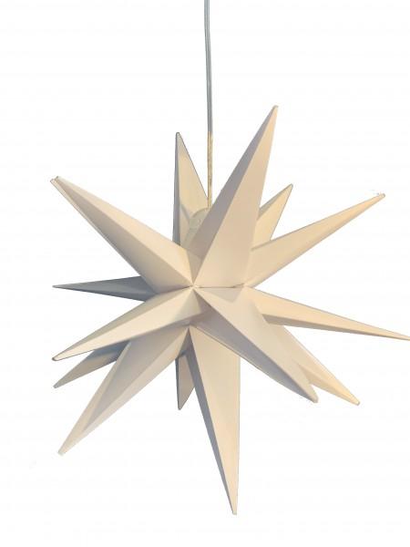 DecoTrend LED Leuchtstern 18-Zacker Outdoor Weiß 40 cm