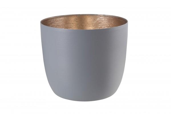 Gift Company Windlicht Mandraas Grau/Gold H8,5cm / D10cm