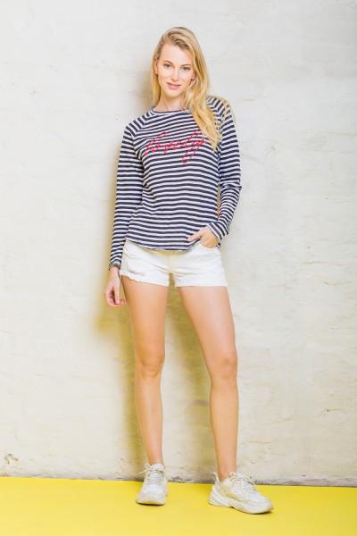 Emily van den Bergh Shirt blau/weiß