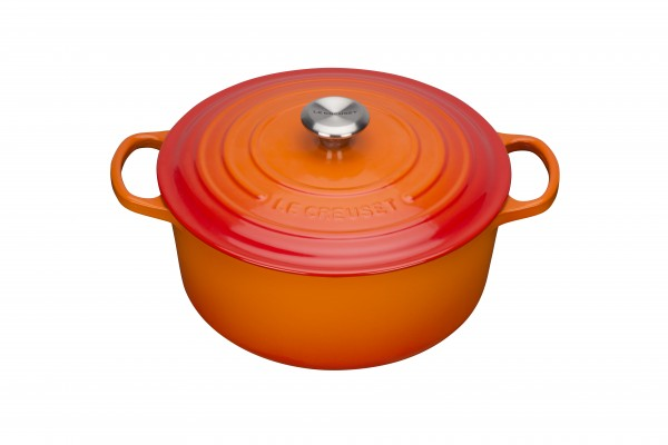 Le Creuset Bräter Rund Ofenrot 28 cm