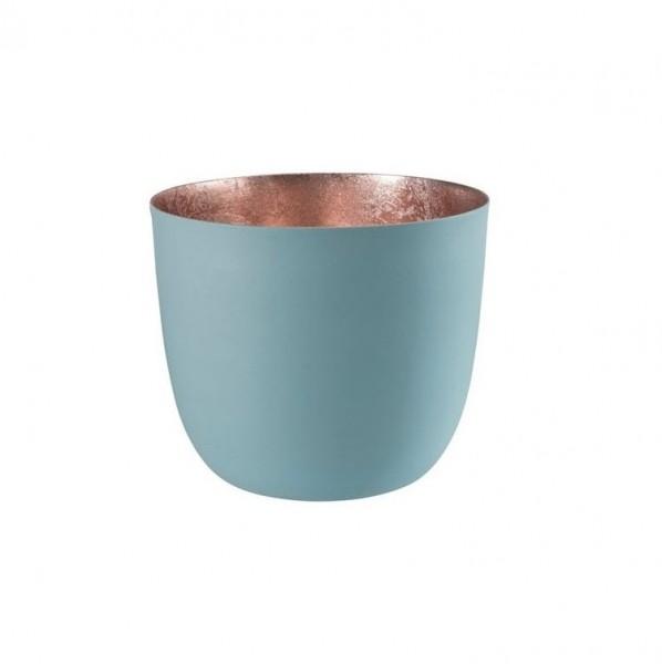 Gift Company Windlicht Mandraas Blau/Rosé H8,5cm / D10cm