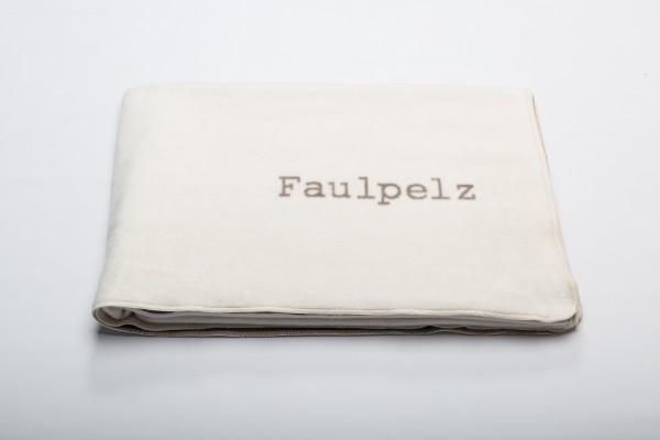"""FusseneggerDecke Verona""""Faulpelz""""RohweißFilz150 x200 cm"""