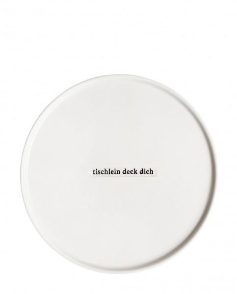 """Räder Porzellan Dessertteller """"Tischlein deck dich"""""""