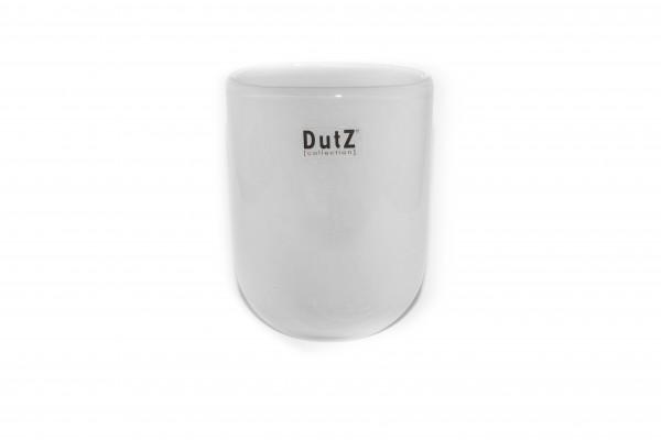 Dutz Vase Oval Weiß H14 cm