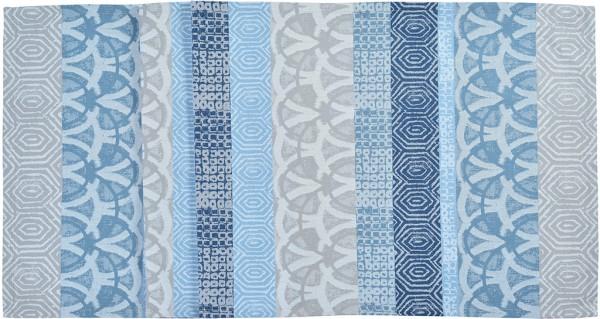 Sander Tischläufer Cayenne verschiedene Größen blau/beige