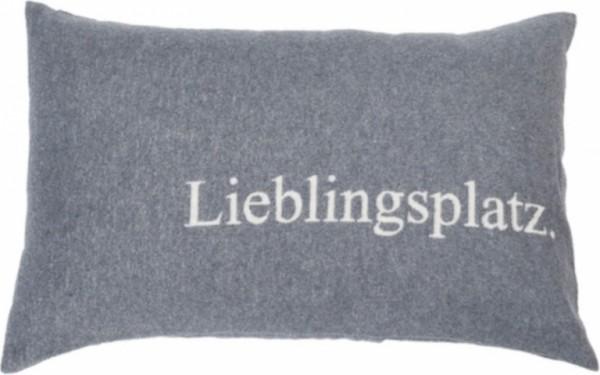 "Fussenegger Silvretta Kissenhülle ""Lieblingsplatz""Grau 40 x 60 cm"