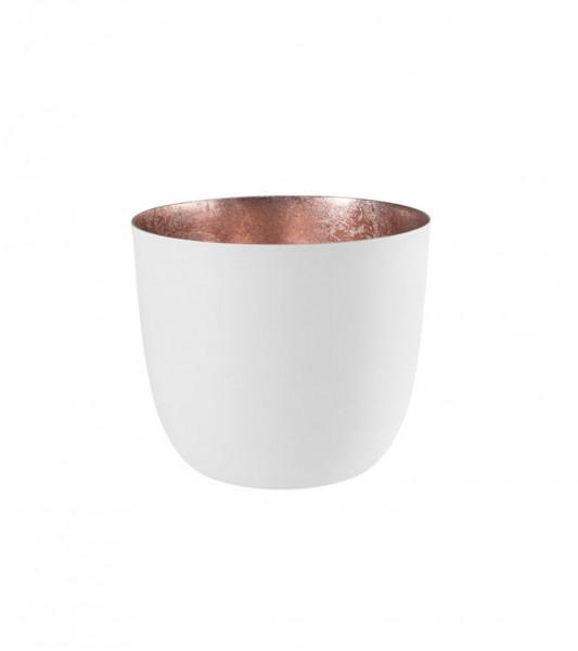 Gift Company Windlicht Mandraas Weiß/Rosé H8,5cm / D10cm
