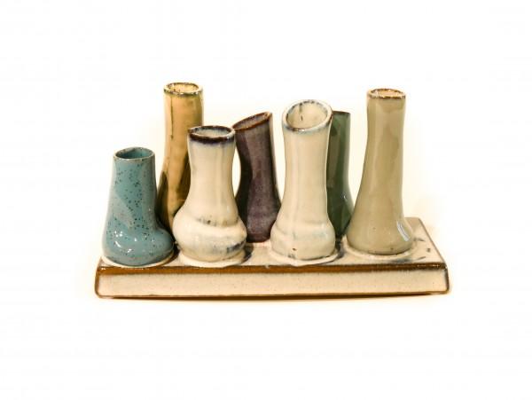 Spang - Keramik Minivasen Petrol, Grau, Lila